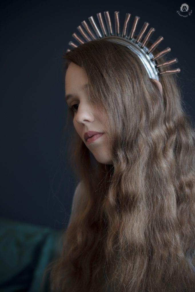 Hedgehog's Hugs srebrna opaska do włosów