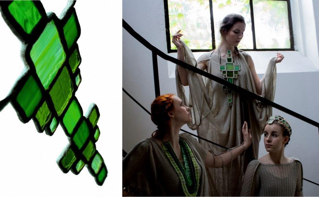 Lumen de lumine - trzy kobiety w ubiorach z kolekcji.