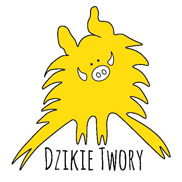Logo Dzikie Twory - żółty Dziczek
