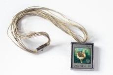 Dzikie Twory - naszyjnik ze znaczkiem pocztowym drop otis tarda