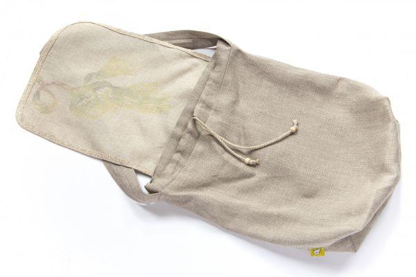 Dzikie Twory - lniana torba na chleb palma spód