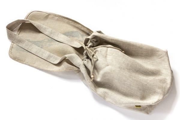 Dzikie Twory - lniana torba z akwarelowym nadrukiem dwa ptaki spód1