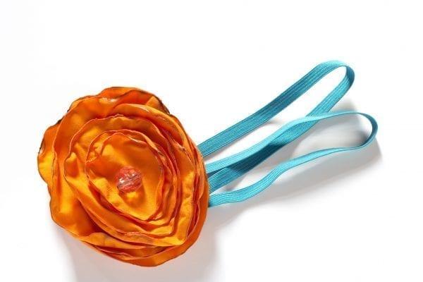 Dzikie Twory - opaska na włosy - z kwiatkiem31