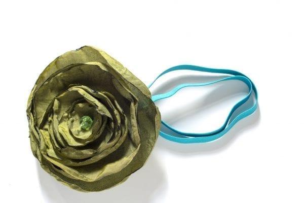 Dzikie Twory - opaska na włosy - z kwiatkiem30
