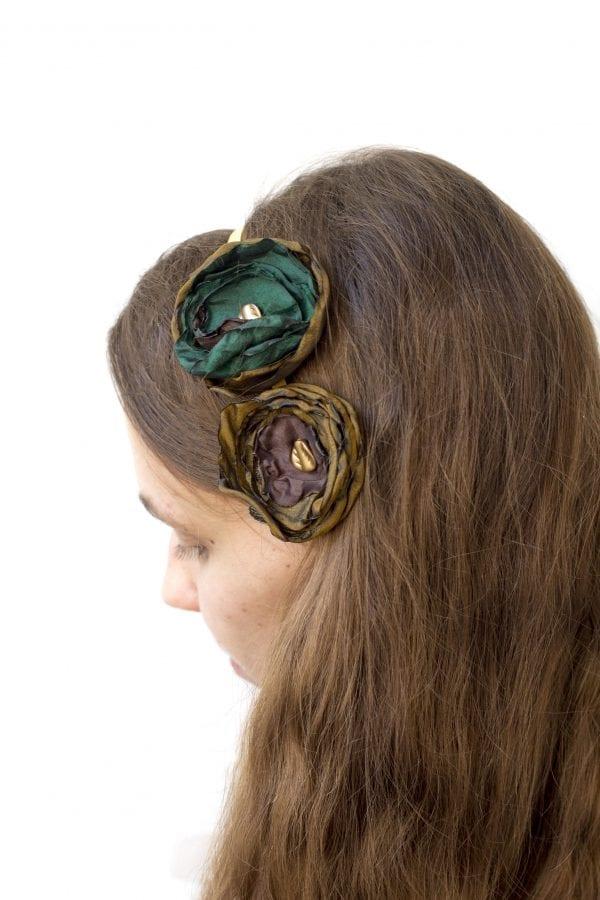 Dzikie Twory - opaska na włosy - z kwiatkiem11