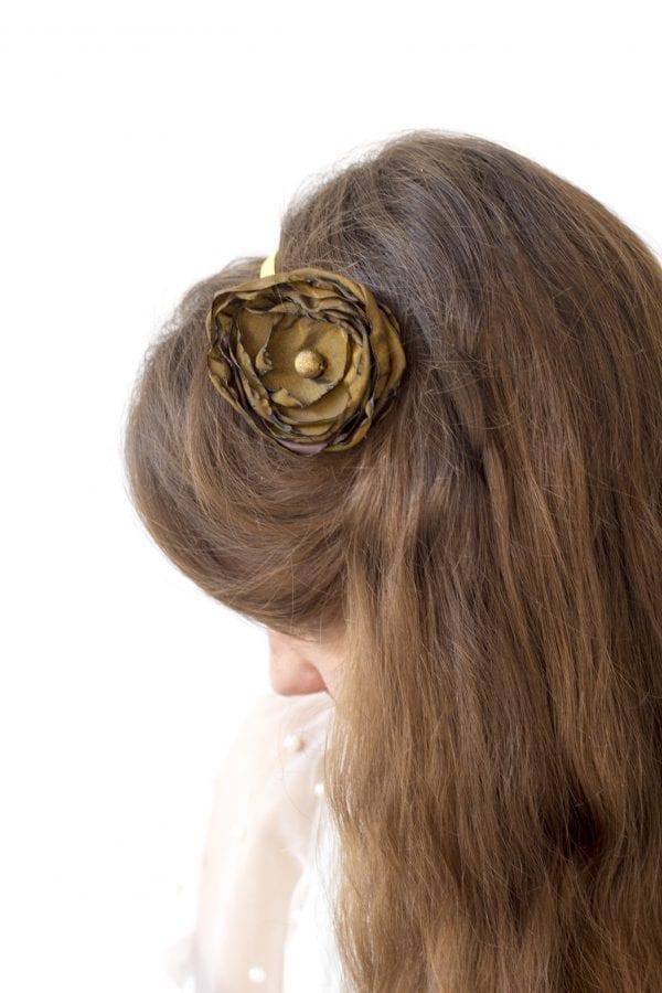Dzikie Twory - opaska na włosy - z kwiatkiem18