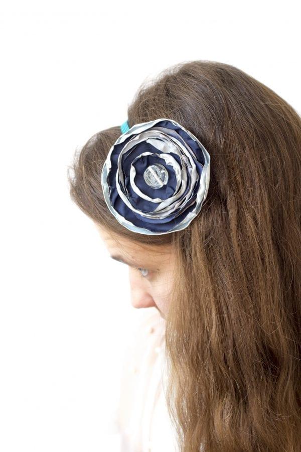 Dzikie Twory - opaska na włosy - z kwiatkiem22