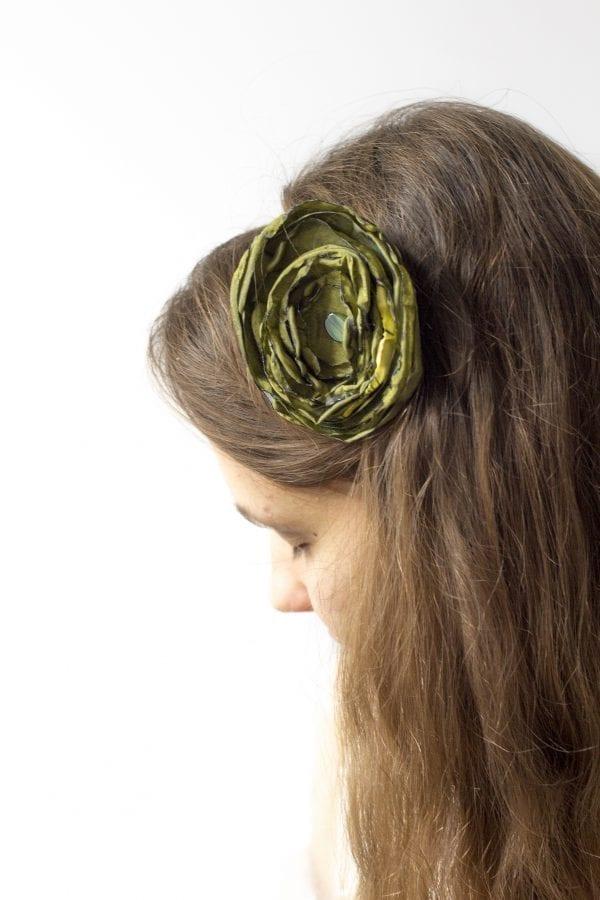 Dzikie Twory - opaska na włosy - z kwiatkiem24