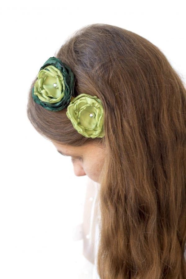 Dzikie Twory - opaska na włosy - z kwiatkiem28