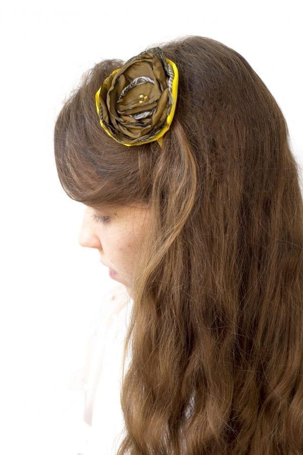 Dzikie Twory - opaska na włosy - z kwiatkiem41