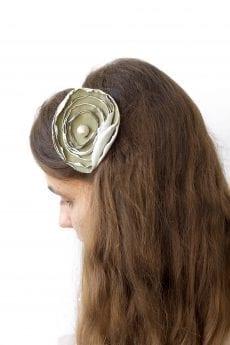 Dzikie Twory - opaska na włosy - z kwiatkiem42