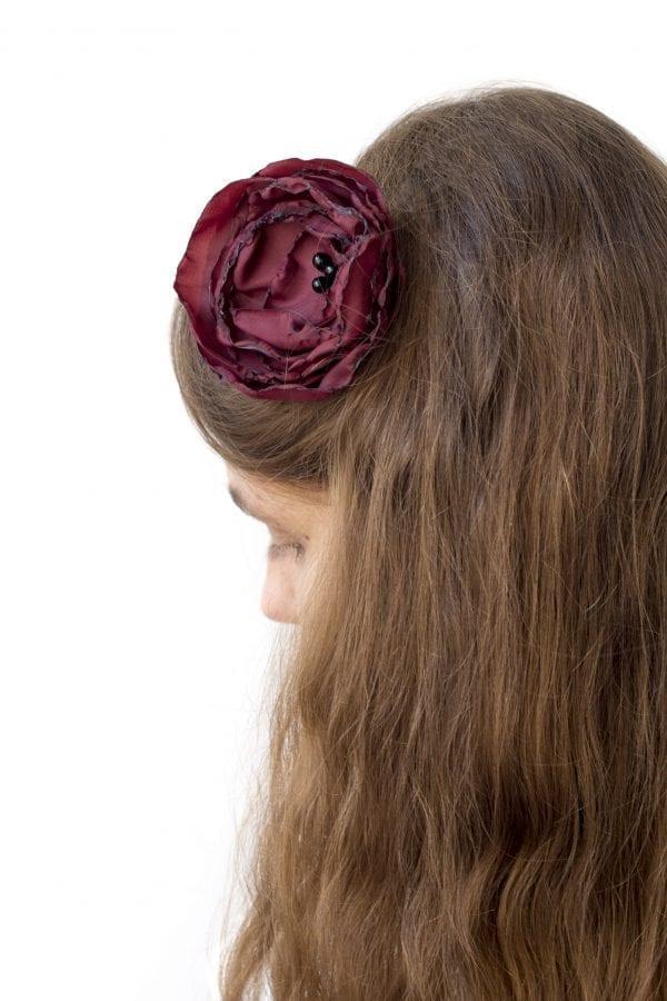 Dzikie Twory - opaska na włosy - z kwiatkiem7